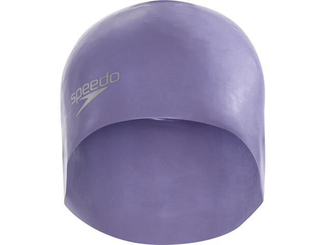 speedo Plain Moulded - Bonnet de bain - gris/bleu